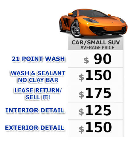 Mobile Detail Pricing | San Diego Auto Detail | Pristine